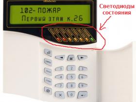 Краткая инструкция действий дежурного персонала с панелью управления С2000М