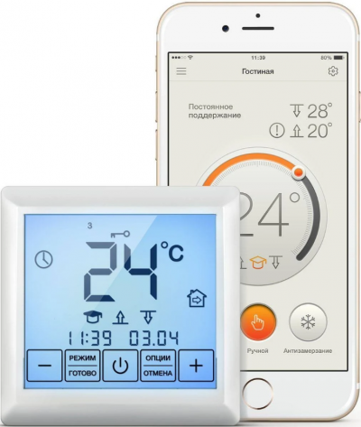 Обзор моделей терморегуляторов WiFi и с облачным сервисом.