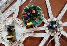 Ремонт плоских светодиодных светильников комплектующими с AliExpress