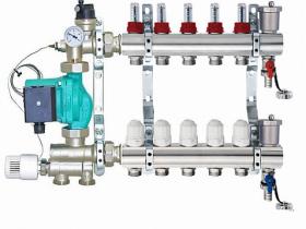 Коллектор водяных теплых полов с автоматическим зональным регулированием